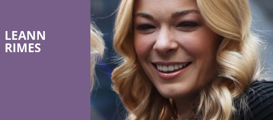 LeAnn Rimes, The Theater at Hard Rock Hotel and Casino Atlantic City, Atlantic City